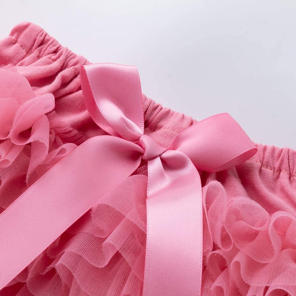 elamccor Baby GirlsTutu Bloomers Newborn Toddler Cotton Tulle Ruffle Diaper Covers with Bow