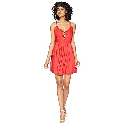 Volcom Cross Paths Dress (Rad Red) Women
