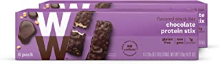 WW Chocolate Protein Stix - Gluten-free, High Protein Snack Bar, 2 SmartPoints - 2 Boxes (12 Count Total) - Weight Watchers Reimagined