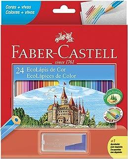 Lápis de Cor EcoLápis 24 Cores e 1 Apontador com Depósito, Faber-Castell