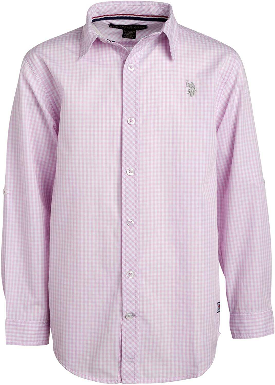 U.S. Polo Assn. Boys Long Sleeve Woven Button Down Shirt