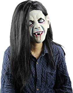 Halloween Horror Costume party Props Long Hair Demon The Ring Mask(Ringu Sadako)