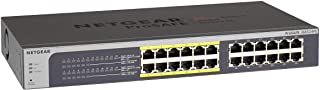 NETGEAR 24-Port Gigabit Ethernet Smart Managed Plus PoE Switch (JGS524PE) - with 12 x PoE @ 100W, Desktop/Rackmount, and ProSAFE Limited Lifetime Protection