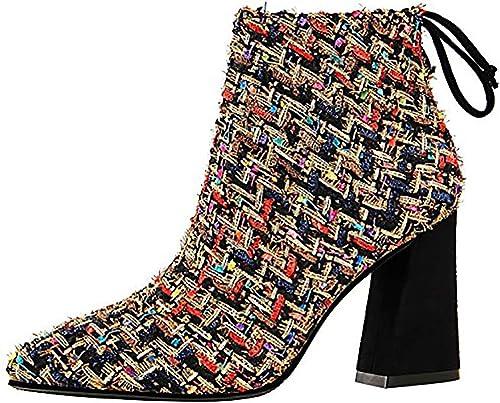 Vaneel Femme QTZZZ 8.5CM Bloc Fermeture éclair Bottes Chaussures