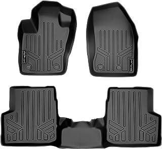SMARTLINER Custom Fit Floor Mats 2 Row Liner Set Black for 2015-2019 Jeep Renegade