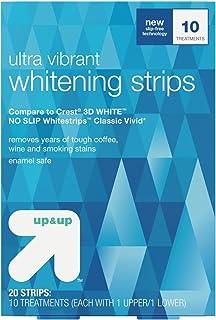 ウルトラバイブラントホワイトニングストリップス 10日分 アップ&アップ Ultra Vibrant Whitening Strips -10 Day Treatment - up & up