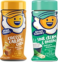 Kernel Season's NEW FLAVORS Sour Cream & Onion and Cheesy Caramel Corn Gourmet Popcorn Seasonings (2 Pack)
