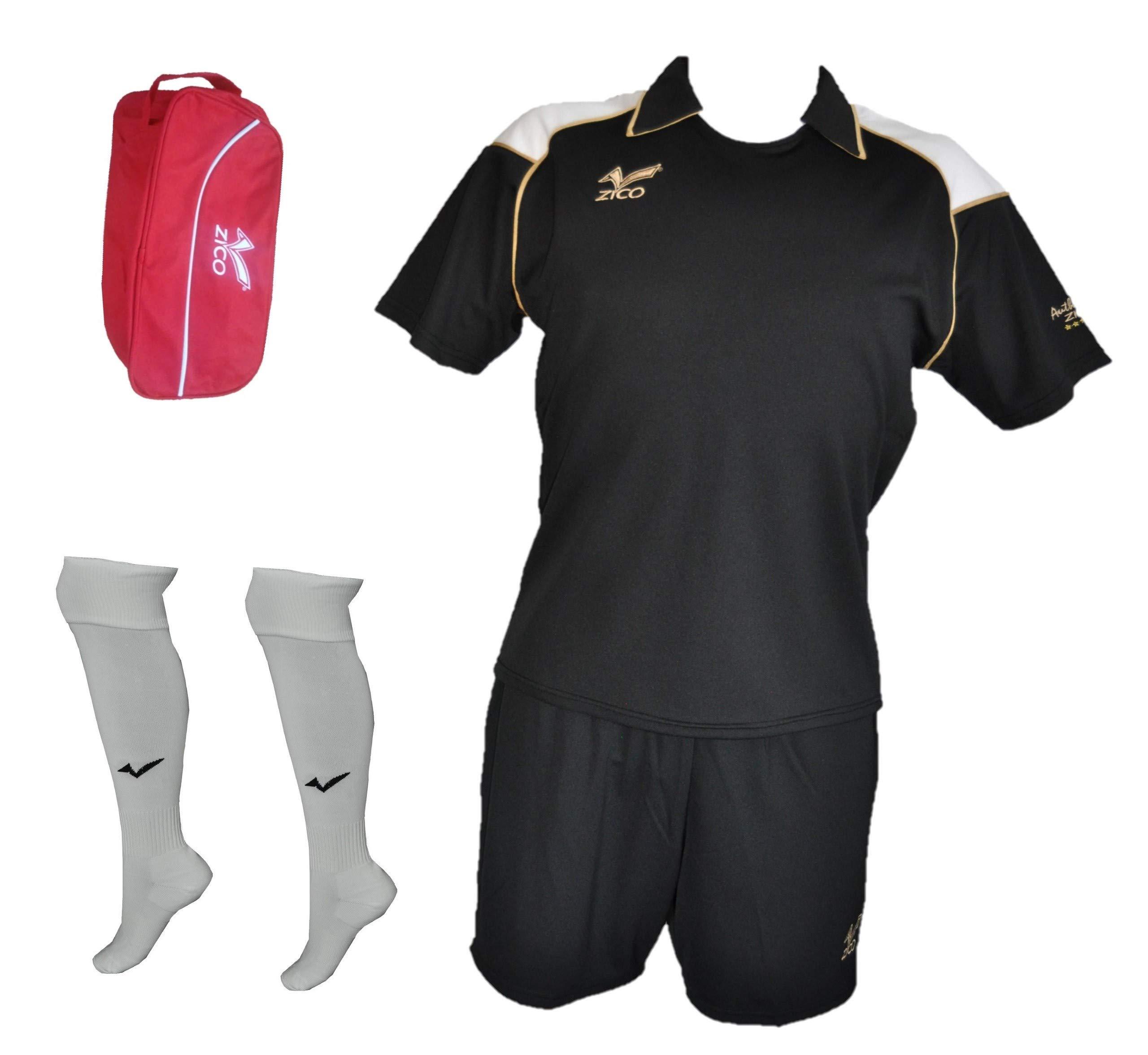ZICO ESPAÑA Conjunto Fútbol Negro Camiseta-pantalón, equipación (XL): Amazon.es: Deportes y aire libre