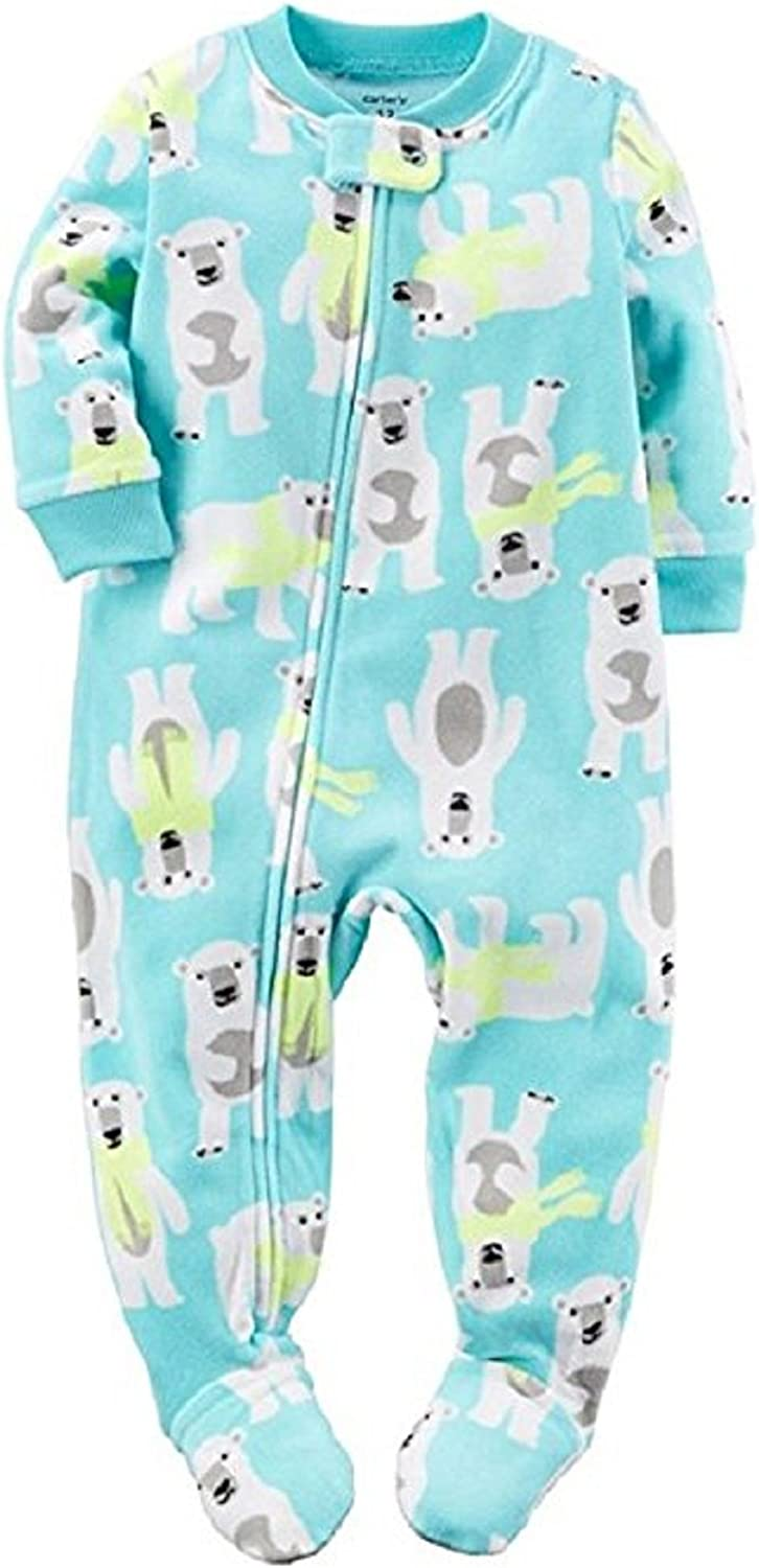 Carter's Baby Boys 1 Pc Fleece Footed Pajamas,Blue,6 Months