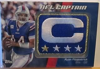 RYAN FITZPATRICK 2012 TOPPS NFL CAPTAIN PATCH OOTBALL CARD #NCP-RF 1 STAR VARIATION (RYAN FITZPATRICK - QUARTERBACK)