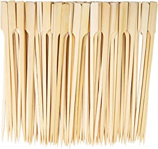 Bamboo Paddle Sticks Skewers for Barbecue Cocktail Buffets Party Burgers 18cm 100Pieces