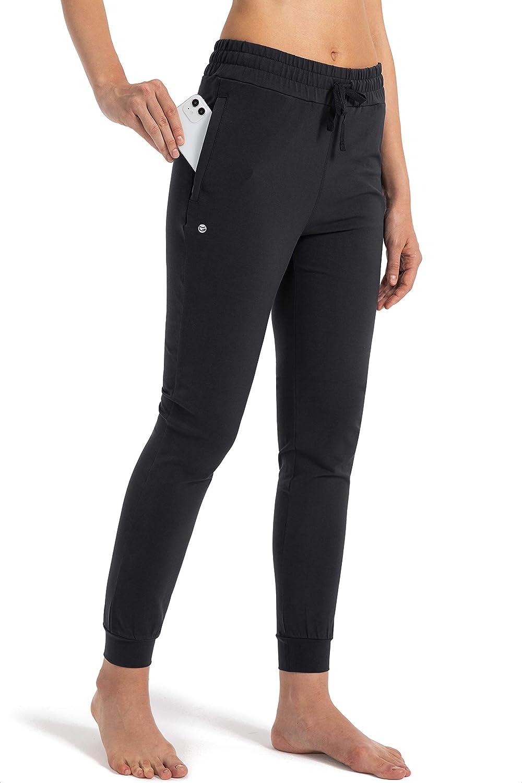 G Gradual Women's Sweatpants Tulsa Mall with Cotton Pants Pockets Jo Max 87% OFF Zipper