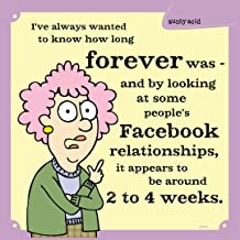 Tree-Free Greetings 60896 Hilarious Aunty Acid Premium Square ECOMagnet, 3.5 by 3.5-Inch, Facebook