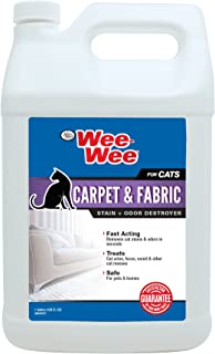 Wee-Wee Carpet & Fabric Stain and Odor Destroyer for Cats, 128 oz