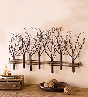 Wind & Weather Metal and Natural Vine Tree Wall Art - 35 L x 22 H x 1 D