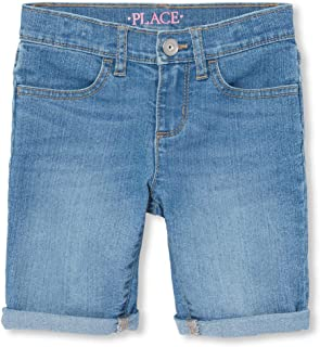 The Children's Place Big Girls' Denim Skimmer Shorts