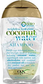 OGX Weightless Hydration Coconut Water Shampoo, 3 Ounce