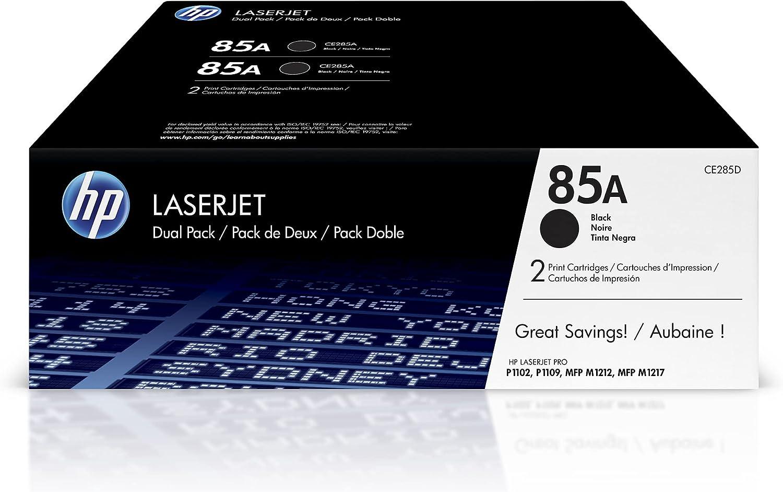 HP 85A   CE285D   2 Toner-Cartridges   Black   Works with HP LaserJet Pro M1212nf, M1217nfw, P1102w, P1109w