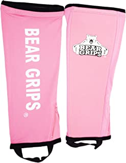 Bear Grips Shin Guards Sleeves. with 5mm of Padded Leg Protection. for Crossfit,  Rope Climbing,  Box Jump,  Weightlifting Deadlift Socks for Deadlifting. Multi-Colors Available. Sold in Single or Pair.