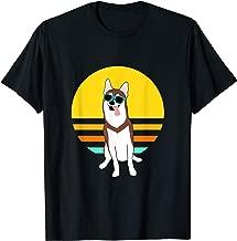 Red and Brown Alaskan Klee Kai or Mini Husky summer sunset T-Shirt