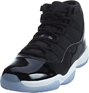 51e34ec9921b Nike Mens Air Jordan 11 Retro Space Jam Black Concord-White Leather Size 12