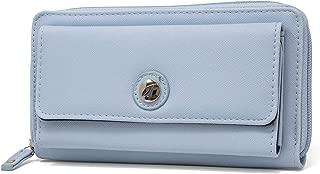 Bulk Cargo Womens RFID Wallet Clutch Zip Around Organizer (Navy)