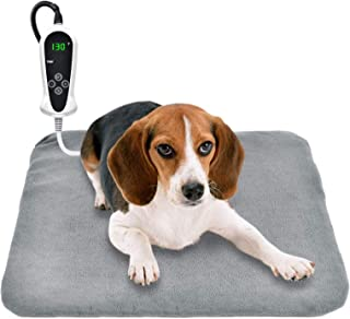RIOGOO Pet Heating Pad, Upgraded Electric Dog Cat Heating Pad Indoor Waterproof, Auto Power Off (M: 18