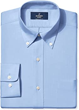 Buttoned Down Classic Fit Button-Collar Solid Pinpoint Men's Shirt