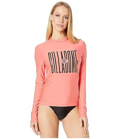 Billabong Core Loose Fit Long Sleeve Rashguard (Sunkissed Coral) Women