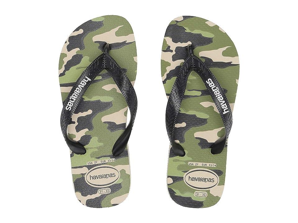 Havaianas Kids Top Camo Flip-Flop (Toddler/Little Kid/Big Kid) (Beige/Black) Boys Shoes
