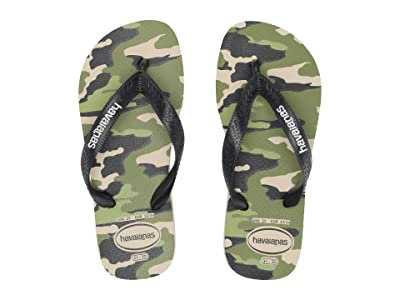 Havaianas Kids Top Camo Flip-Flop (Toddler/Little Kid/Big Kid) (Beige/Black) Boys Shoes