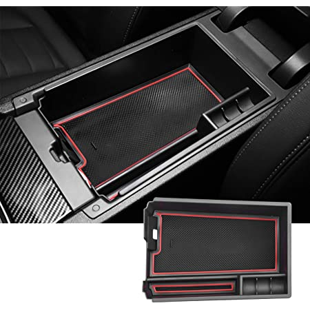 Compatible with 2020 2021 Soul Booster EV Center Console Storage Box Organizer Container Armrest Insert Organizer ABS Tray Pallet with USB Hole and Coin Holder