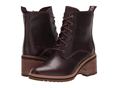 Timberland Sienna High Lace-Up Waterproof Boot (Dark Brown Full Grain Leather) Women