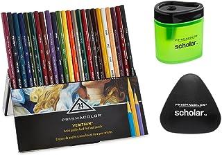 Prismacolor Premier Verithin 彩色鉛筆,24 支裝 Pencils with Free Sharpener and Eraser