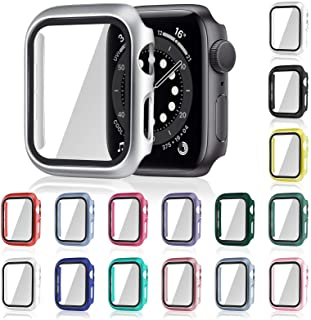 16 Pieces Watch Case Screen Protector Smart Watch Cover Iwatch Protective Case Matte PC Hard Cover Compatible with Smart I...