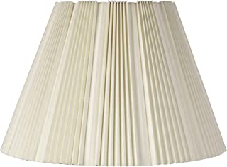 Eggshell Pleated Bell Shade 9.5x19x13 (Spider) - Brentwood