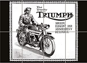 PANEL ART PRINT TRIUMPH MOTORCYCLE VINTAGE UK VINTAGE OLD ADVERTISING RETRO REPRODUCTION POSTER OZ4562 by PANEL POSTERS