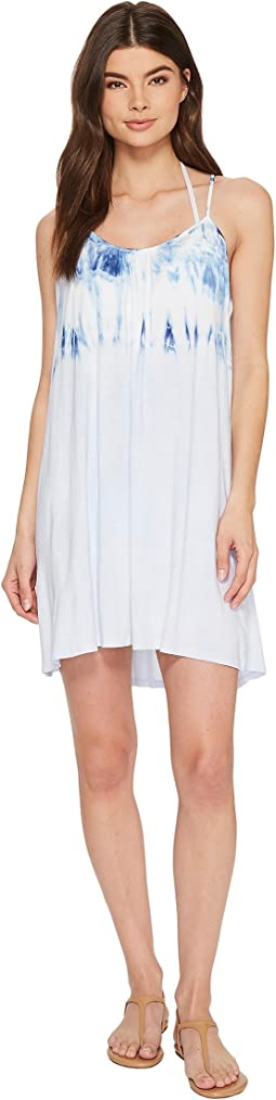 Lucky Brand - Dip into Blue Swing Dress Cover-Up with Keyhole Back