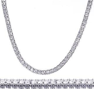 lab created diamond tennis necklace