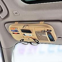 Da by Car Sun Visor Organizer Auto Interior Accessories Pocket Organizer Truck Storage Pouch Holder with Multi-Pocket Net ...
