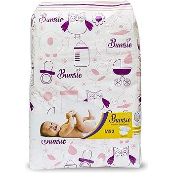 Bumsie Baby's Tape Style Diapers (Medium, 6-11 Kgs) - Pack of 52