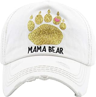 KBETHOS Hats Women's Mama Bear Washed Vintage Baseball Hat Cap