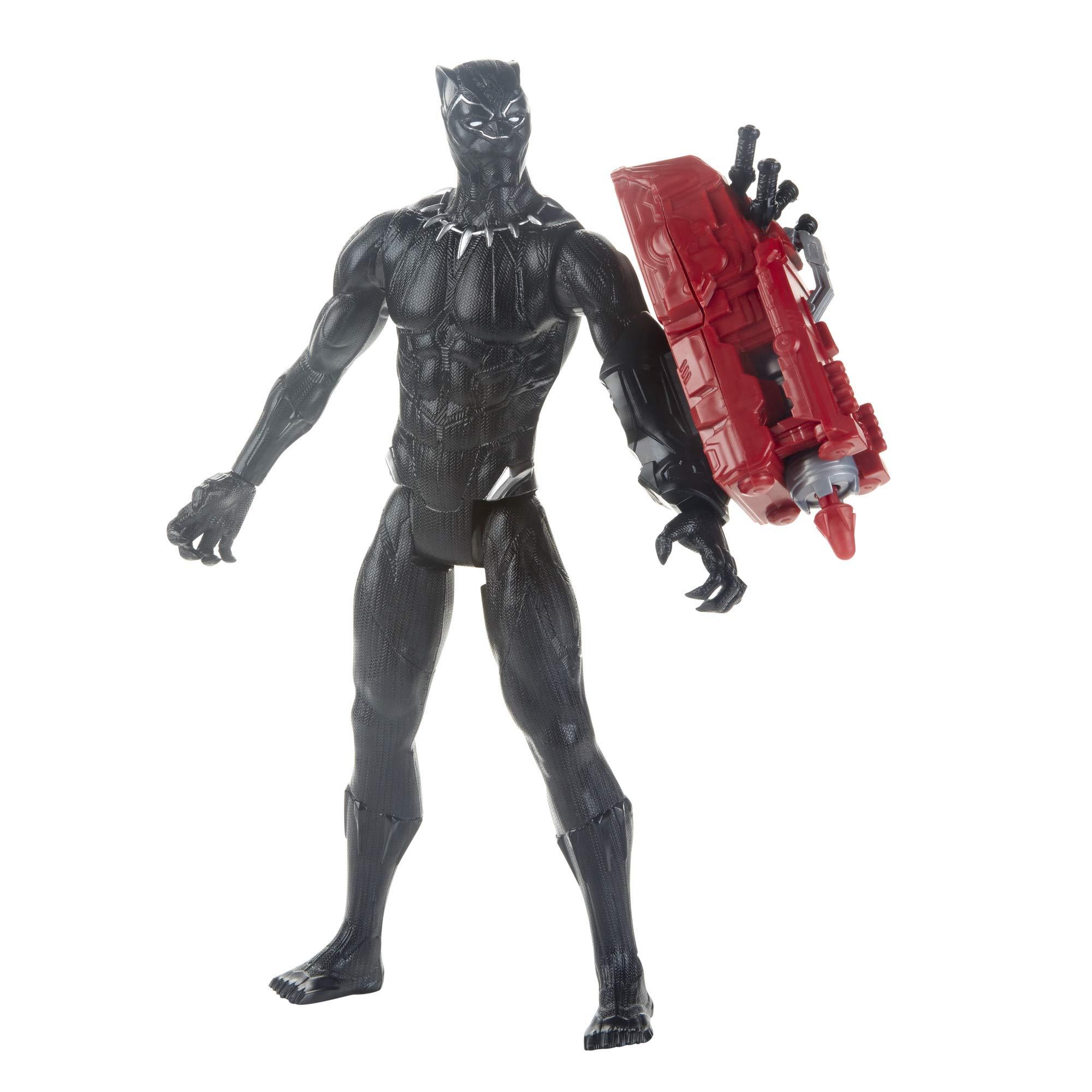 "Avengers Marvel Endgame Titan Hero Series Black Panther 12"" Action Figure, Brown/A"