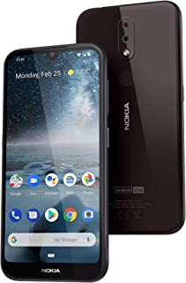 Nokia 4.2 Android One Smartphone (Official Australian Version) 2019 4G Unlocked Mobile Phone with Dual-Camera, Google Assistant Button, NFC, 32GB, Black