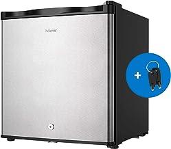 hOmelabs Upright Freezer – 1.1 Cubic Feet Compact Reversible Single Door Vertical..