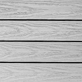 NewTechWood US-QD-ZX-SW Ultrashield Naturale Outdoor Composite Quick Deck Tile (10 Case), 1' x 1', Icelandic Smoke White