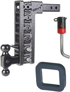 GEN-Y Hitch GH-325 Class IV 2 Receiver 10 Drop Hitch 10K Towing w// 2 Silencer Pad /& Black Premium 5//8 Key Receiver Lock Bundle