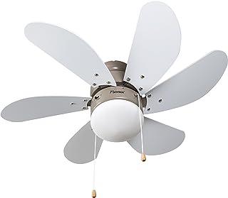 Bestron Ventilador de Techo con lámpara, 75 cm, 50 W, Arce/Blanco