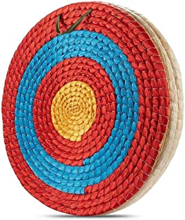 Thsinde 3-Layers Traditional Solid Straw, Round Archery Target Shooting Bow Coloured Rope Target Face for Shooting Practice