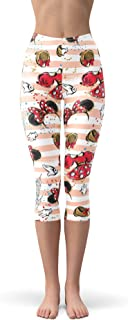 Rainbow Rules Minnie Best Day Ever Disney Inspired Winter Leggings - Fleece, Capri 3/4 Length, Mid/High Waist